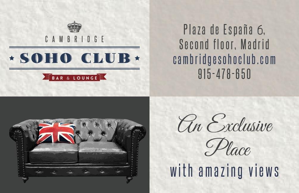 Tarjeta para clientes Cambridge Soho Club